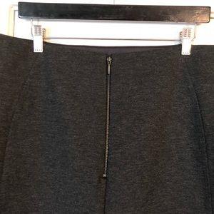 New York & Company Skirts - NY&CO Gray Marl Ponte Knit Zip Back Pencil Skirt